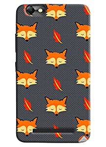 Omnam Wolf Printed Pattern Designer Back Cover Case For Lenovo Vibe C (A2020)