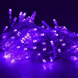 LightHome Waterproof 20M 200 Leds String Fairy Lights For Indoor&Outdoor Wedding Christmas Party Room Waterproof Controller&UK Plugs with Fuse safety design 8 Operation Modes-Purple