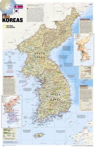 south and north korea map. North Korea and South Korea