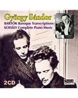 Bartók : Transcriptions Baroques - Kodály : Intégrale De La Musique Pour Piano