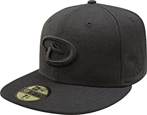 MLB Arizona Diamondbacks Black on Black 59FIFTY Fitted Cap by New Era