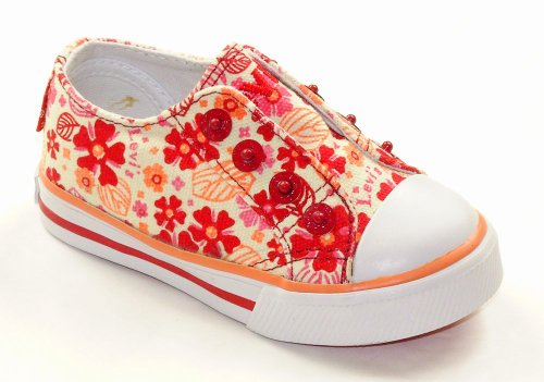 LEVI'S Girls FOXIE Slipon Red Floral Canvas