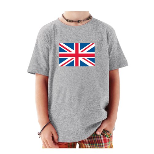 So Relative! British Flag Baby-Boys & Kids T-Shirt (Sport Grey, 18 Month) (British Baby compare prices)