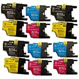 LC1240 / LC1220 - 3 set of 4 Multipack Compatible Ink Cartridges for Brother DCP J925DW - ALSO COMPATIBLE WITH Brother DCP J525W, DCP J725DW, Brother MFC J430W, MFC J5910DW, MFC J625DW, MFC J6510DW, MFC J6710, MFC J6710DW, MFC J6910DW, MFC J825DW Printer