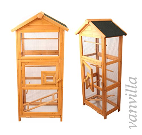 vanvilla vogelvoliere holz vogelk fig vogelhaus voliere vogel k fig 014s. Black Bedroom Furniture Sets. Home Design Ideas