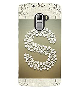 "ColourCraft Alphabet ""S"" Design Back Case Cover for LENOVO A7010"