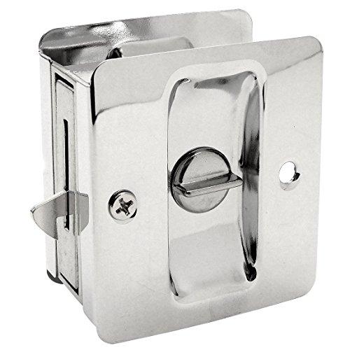 Designers Impressions Polished Chrome Pocket Door Privacy Lock : 53867 (Chrome Pocket Door Lock compare prices)
