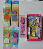 Barbie 4 Chic Fashion - 1 Fashion Avenue with 20 conbination - 1 Barbie Fashionistas Shoes And Accessories Pack By Mattel - the packets are not in mint condition