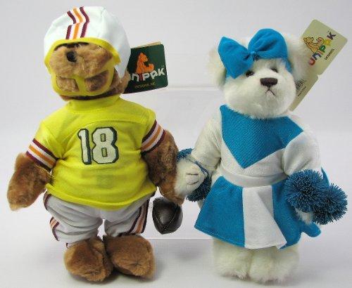 Football Player and Cheerleader Plush Teddy Bear