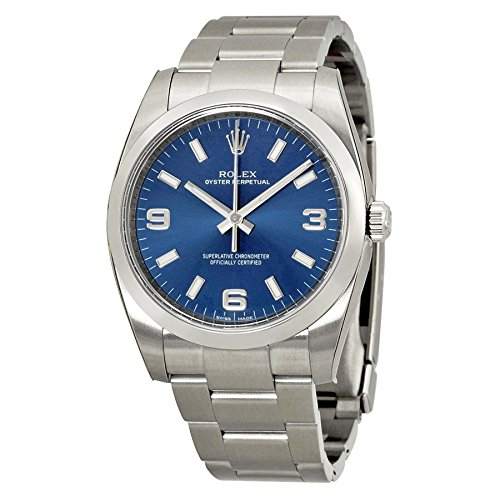 Rolex Airking Blue Arabic Dial Domed Bezel Mens Watch 114200BLASO (Rolex Air King compare prices)