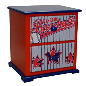 Newco Kids Nightstand, Baseball All Star