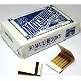 50 Plain White Matches Matchbooks for Wedding Birthday Wholesale Made in America