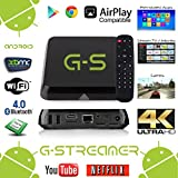 G-Streamer Octa Core Android TV Box with Special Edition XBMC (Kodi), Wi-Fi, Bluetooth 4.0, Airplay Compatible - DDR3: 2GB, Flash Memory: 8GB [Latest Version - Stream TV/Movies Out Of The Box!]