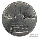 DDR (RDA) Jägernr: 1626 1989 Un Neusilber 1989 5 marcos zwickau (monedas para los coleccionistas)