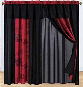 red and black drapes