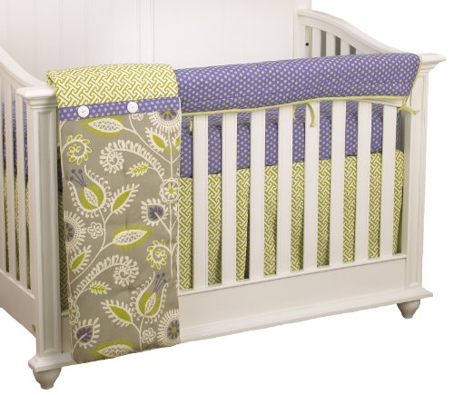 Cotton Tale Designs Front Crib Rail Cover Up Crib Bedding Set, Periwinkle