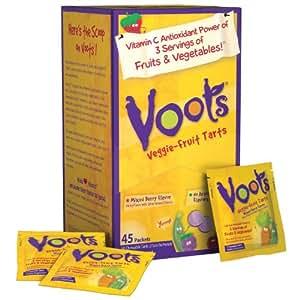 Voots Veggie Fruit Tarts, 45 Count