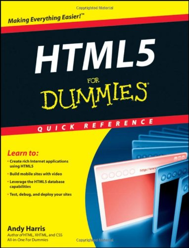 HTML5 For Dummies Quick Reference 1118012526 pdf