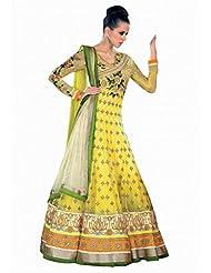 Stylelok Womens Georgette Anarkali Suit Sl 7500787_Yellow_Free Size
