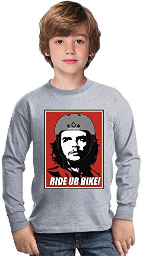 che-guevara-ride-a-bike-amazing-kids-long-sleeved-shirt-by-true-fans-apparel-100-cotton-ideal-for-ac