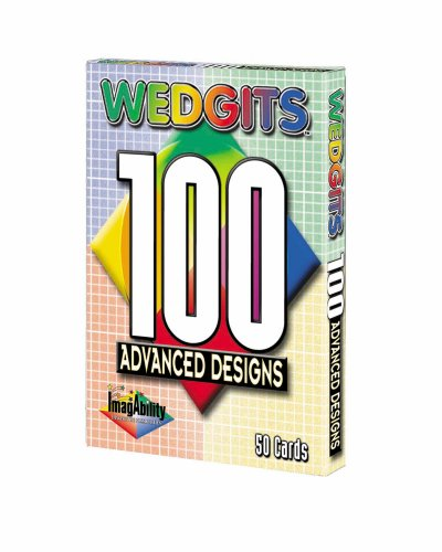 Wedgits Advanced Design Cards 50 cards with 100 advanced designs, for use with the Wedgits Building Sets - 1