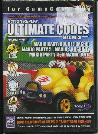 Action Replay Ultimate Codes MAX PACK: Mario Kart Double Dash, Mario Party 4