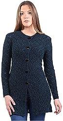 Montrex Women's Plain Coats (Montrex-6415Navyblue, Navy, XL)