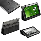 IGadgitz Black 'Portfolio' Genuine Leather Case Cover for Acer Iconia Tab A500 A501 10.1 Android Tablet 16gb 32gb