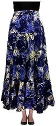 COTTON BREEZE Women's Cotton Skirt (Blue)