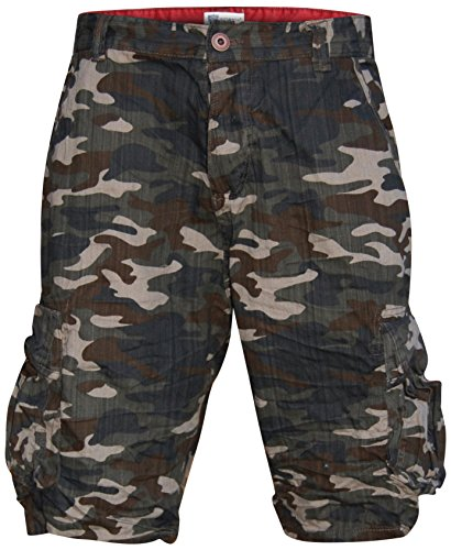 Worior Men's Soft Cotton Camo Cargo Shorts (30) Cotton Camouflage Shorts