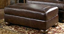 Big Sale Axiom brown leather ottoman