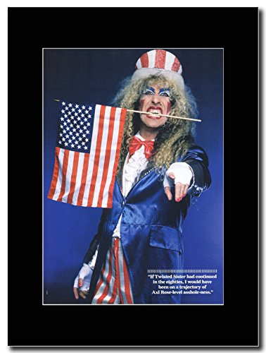 Twisted Sister-Dee Snider. Magazine Promo su un nero Mount