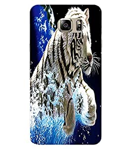 ColourCraft White Tiger Design Back Case Cover for SAMSUNG GALAXY NOTE 7