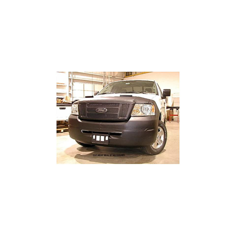 Lebra 2 piece Front End Cover Black   Car Mask Bra   Fits   FORD,F 150,,w/o fogs or tow hooks,2006 thru 2008