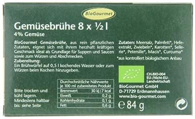BioGourmet Gemüsebrühe, Würfel, 12er Pack (12 x 4 Liter) - Bio von BioGourmet bei Gewürze Shop