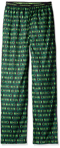 Calvin Klein Big Boys' Ck Logo Sleep Pant, Green, 14/16