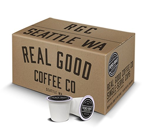 Real Good Coffee Co Recyclable K Cups, French Roast Dark, Keurig 2.0 and 1.0 Compatible, 72 Single Serve Coffees (Seattle Mountain French Roast compare prices)