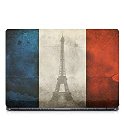 Inktree Vinyl France Matte Finish Adhesive Laptop Skin (15 inch x 10 inch, Mulicolor)