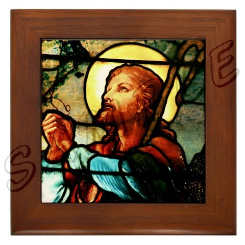 Jesus the Good Shepherd Framed Tile