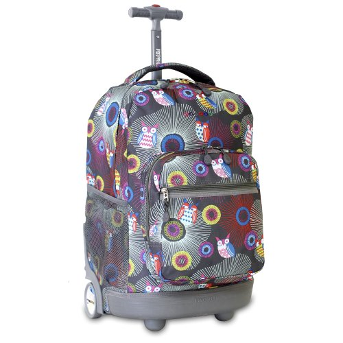 Girls Rolling Backpack, Rolling Backpacks For School, School Bags With Wheels, Girl Backpacks, School Backpacks, Children's School Bags, Backpack With Wheels, Shop Justice, Trolley Bags Find this Pin and more on حقائب مدرسية by Menna Nabil.