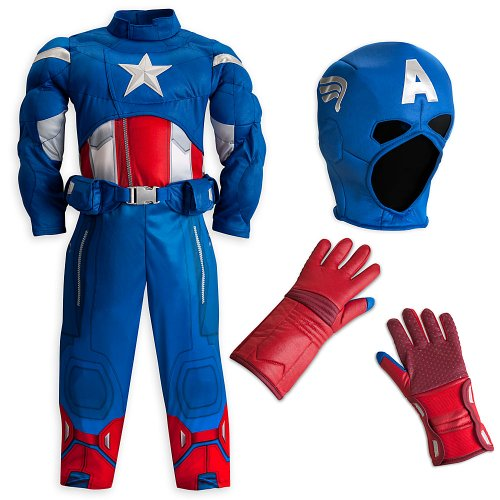 Disney Store/Marvel The Avengers Captain America Muscle Costume Size XS 4 (4T)