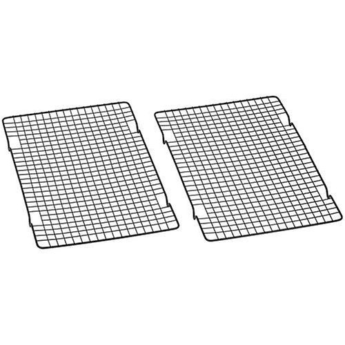 Maked filled cupcake recipes with Baker's Secret 1061483 10-by-16-Inch Nonstick Cooling Rack, Set of 2