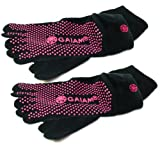 Gaiam Grippy Yoga Socks- 2 Pack (Small/Medium)