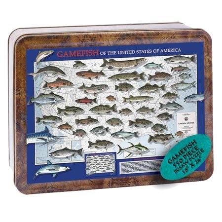 Channel Craft Puzzle Tin Gamefish 550 Piece Jigsaw Puzzle