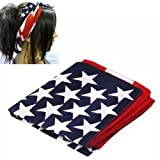 SODIAL(R) American Stars and Stripes U S A Flag Bandana Hair Band 100% Top-Quality Fabric