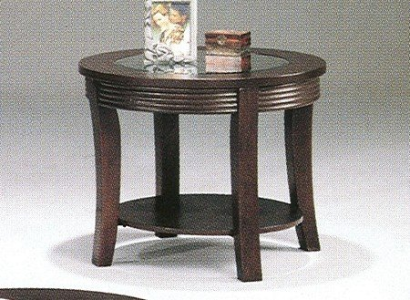 contemporary-cappuccino-finish-ribbed-apron-occasional-table-w-glass-top