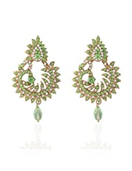 I Jewels Tradtional Gold Plated Elegantly Handcrafted Pair Of Fashion Earrings For Women. - B00N7IOWJ2