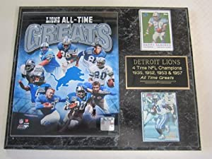 Detroit Lions All Time Greats 2 Card Collector Plaque by J & C Baseball Clubhouse