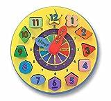Melissa and Doug Wooden Shape Sorting Clock 10159