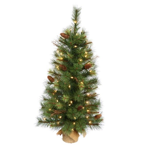 Caribou Mix Pine Pre-lit Tabletop Christmas Tree